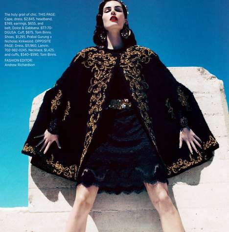 Blue-Skied Statuesque Photoshoots - Hilary Rhoda for the Harpers Bazaar USA Stuns