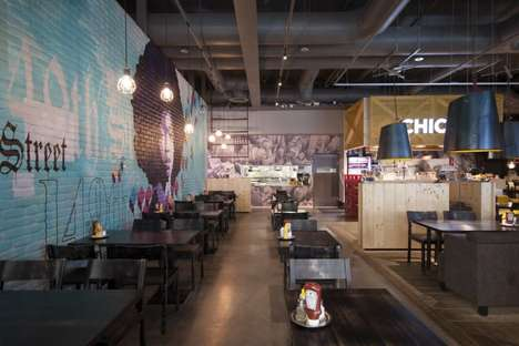 Eclectic Industrial Eateries - The Amerikka Design Office Chico's Restaurant is Bold