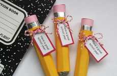 Sugary School Supplies - Thrifty and Thriving Candy Pencils Will Make School a Sweet Experience