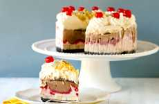 Sundae-Inspired Birthday Cakes - The Banana Split Ice Cream Cake is as Good as it Sounds