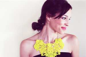 The 'In Honor of Design' DIY Crochet Bib Necklace is Vivaci