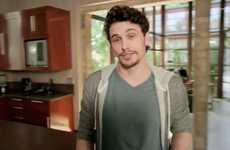 The James Franco Multi-Tasker Galaxy Spot is Set in His Home