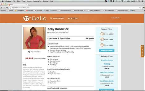 Wello Exercise Service  