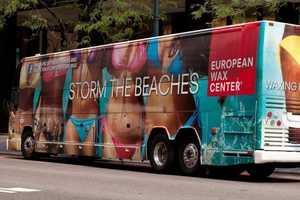 The 'EWC Jitney Bum Bus' Offers Beach Goers Complimentary Waxing