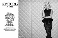 Monochromatic Bombshell Photoshoots - Kimberly Wyatt for Beauty Rebel is Haute and Evocative
