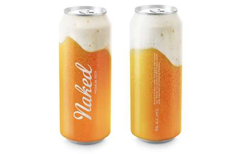 See-Through Beer Cans - Naked Premium Beer Packaging Provides a Look at the Product Inside