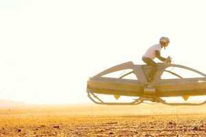 The Aerofex Flying Bike Goes at Lightning Speed