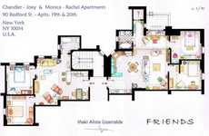 The Lizarralde Sitcom Flat Floor Plans Detail the Set of Frasier