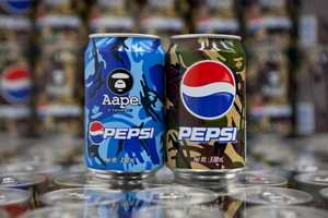 A Bathing Ape Pepsi Cans Elevate Soda to Culture Symbol