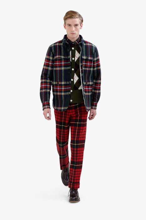 Blown-Up Tartan Print Fashion - Black Fleece 2012 Fall/Winter Collection Has Scottish Flavor