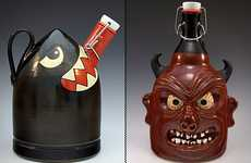Character-Filled Beer Jugs - The Custom Handmade Growlers by Carlburg Pottery are Wicked