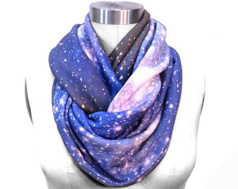 Starry Space Scarves - Etsy Shop Shadowplaynyc Creates Galaxy-Inspired Accessories