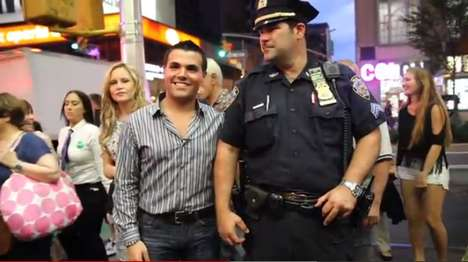 Fake Celeb Photo-Ops - Pretend Celebrity Brett Cohen Plays Pranks in Times Square