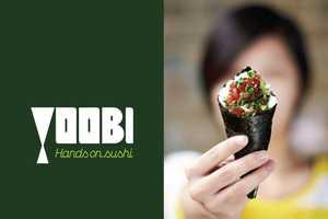 The Yoobi Branding is Inspired by the Temaki Hand-Rolled Sushi
