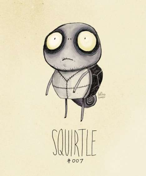 Tim Burton-inspired Pokemon