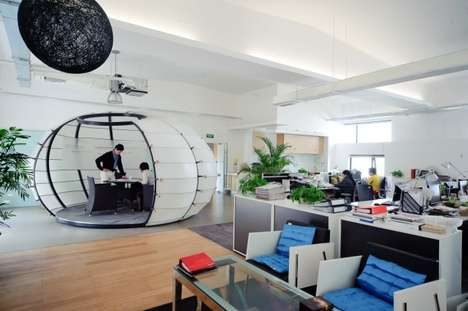 Bulbous Brainstorming Pods - The edg Creatives Pumpkin Room Stimulates Employees