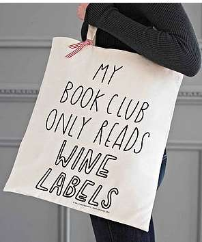 Sassy Book Satchels - The Joy Tote Bag by The Joy of Ex Foundation Offers Dry Humor