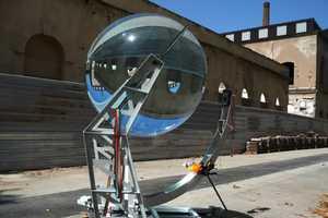 The Spherical Glass Solar Energy Generator by Andre Rawlemon