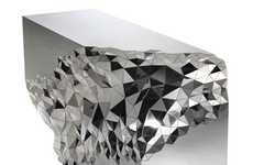 The Stellar Console Table by Jake Phipps is Inspired by Geodes