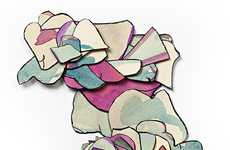 Heaped Cutout Drawings
