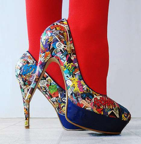 56 Notoriously Nerdy Shoes - From 8-Bit Peep Toes to Geeky Sci-Fi Stilettos