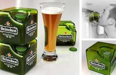 Boxy Branded Beers - The Heineken Cube Concept is Intoxicatingly Intriguing