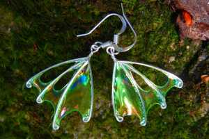 Etsy Seller TheSilverBranch Designs Adorable Fairy Wing Earrings