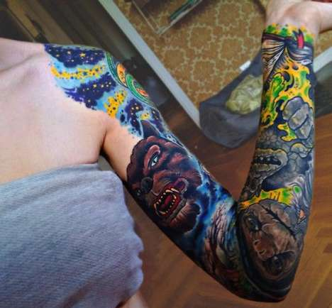 80s fantasy tattoos sleeves