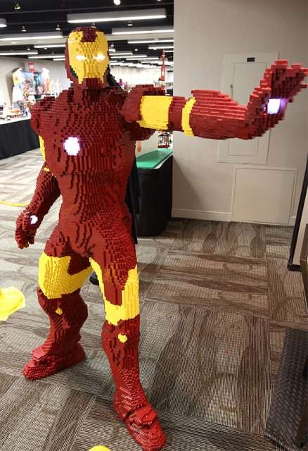 life-size LEGO Iron Man