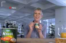 Morning Meal-Inspired Yogurts - Jamie Lee Curtis Returns to Promote Activia Breakfast Blend