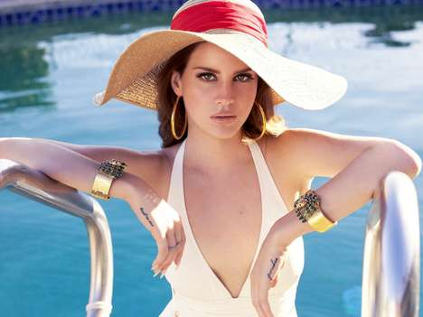 Luxury Car Songstress Endorsements - Lana Del Ray Jaguar F-Type Ad Campaign Targeted at Young & Hip