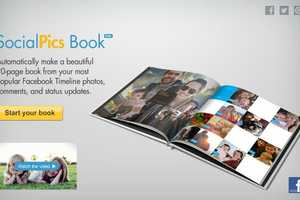The 'SocialPics Book' is a Hardcover Digital Photo Album