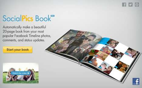 Social Media Memory Books - The 'SocialPics Book' is a Hardcover Digital Photo Album