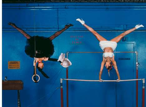 Haute Athletic Captures - Jean-Paul Goude Photography Melds the Olympics and High Fashion