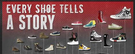 Famed Footwear Timelines - The Converse History Infographic Goes Back in Time