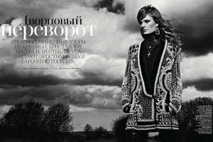 The Constance Jablonski for Vogue Russia Shoot Portrays 20s Opulence