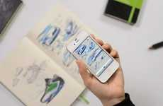 Smartphone-Compatible Notebooks - Moleskine Evernote Turns Your Notes & Drawings Into Digital Form