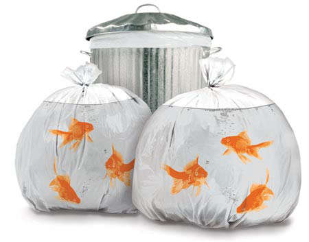 Pet Goldfish Garbage Bags