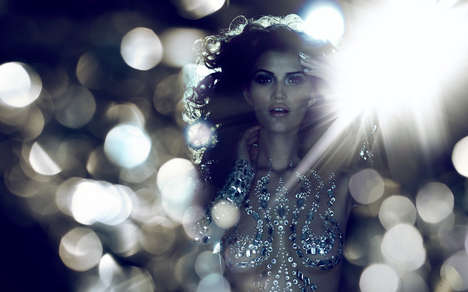 Glittering Bokeh Ads - The Fashion Cares 25th Anniversary Campaign Celebrates a Big Milestone