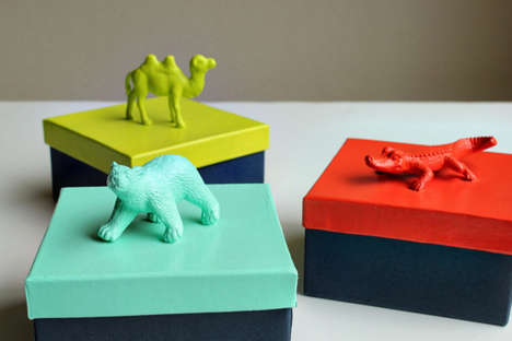 DIY Plastic Figurine Packages - 'Hellobee' Animal Gift Boxes are Ideal for Children