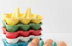 Polychromatic Kitchen Accessories - The Half-Dozen Egg Crate is Chic and Colorful