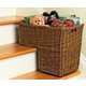 Helpful Wicker Home Organizers - The 'Seagrass Stair Basket' Will Make Cleaning Up Easy  1