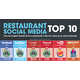 Fast Food Influence Infographics - The 'Restaurant Social Media Top 10' Chart is Eye-Opening (GALLERY) 1