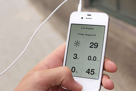 Utilitarian Forecasting Apps - Weathercube Uses Gestures to Provide Daily Visual Forecasts