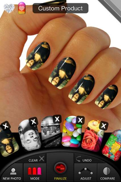 nails, nail polish, iOS, manicure