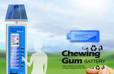 Smartphone-Charging Vending Machines - The Chewing Gum Battery Concept Vends Portable Power Strips