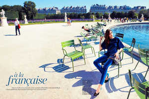 The Marie Claire Australia 'à la francaise' Editorial is Set in F