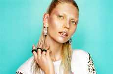 Aline Weber for H&M Magazine Fall 2012 is a Playful Metallic Series