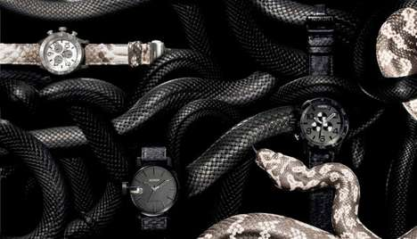 Serpentine Watch Catalogs - The Nixon Fall/Winter 2012 Lookbook Uses Creative Backgrounds