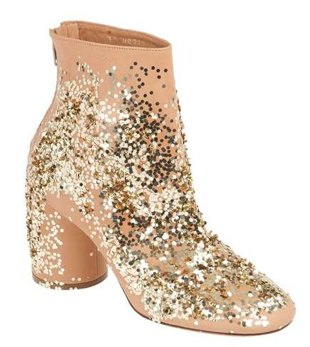 Maison Martin Margiela Gold Ankle Boots